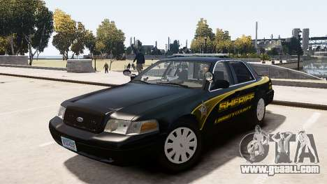 Ford Crown Victoria Sheriff LC [ELS] for GTA 4