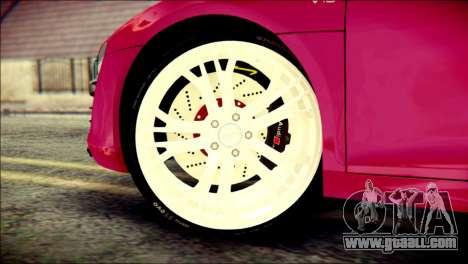 Audi R8 V10 Plus 5.2 FSI 2013 for GTA San Andreas back left view
