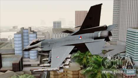F-16AM Fighting Falcon for GTA San Andreas left view