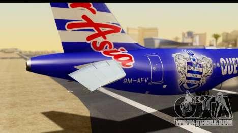 Airbus A320-200 AirAsia Queens Park Rangers for GTA San Andreas back view