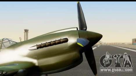 P-40E Kittyhawk IJAAF for GTA San Andreas right view