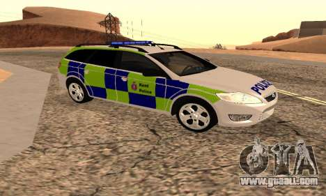 Ford Mondeo Kent Police for GTA San Andreas back left view
