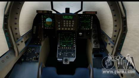 F-2A Viper Blue for GTA San Andreas inner view