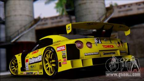 Nissan GTR R35 JGTC Yellowhat Tomica 2008 for GTA San Andreas left view