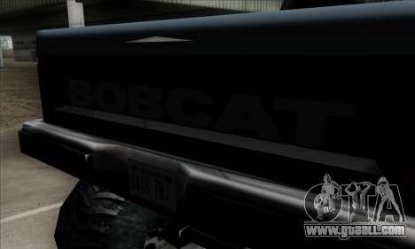 Monster Bobcat for GTA San Andreas back view