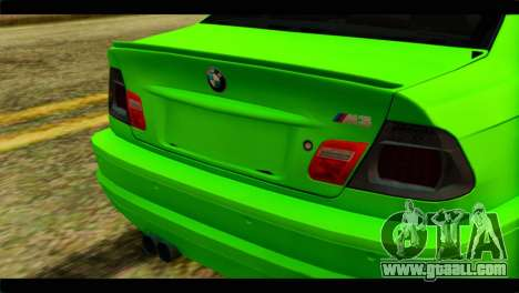 BMW M3 E46 Stock for GTA San Andreas back view
