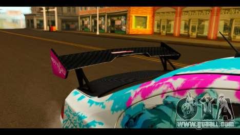 Mitsubishi Lancer Evolution X 2008 Miku Racing for GTA San Andreas back view