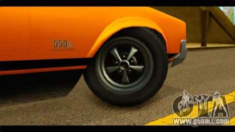 GTA 5 Declasse Sabre GT Turbo IVF for GTA San Andreas back left view