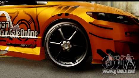 Honda Civic SI Juiced Tuned Shinon Itasha for GTA San Andreas back view