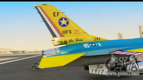 F-16C USAF 111th FS 90th Anniversary for GTA San Andreas back view