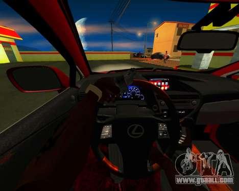Lexus RX450h v3 for GTA San Andreas inner view
