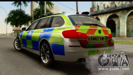 BMW 530d Kent Police RPU for GTA San Andreas left view