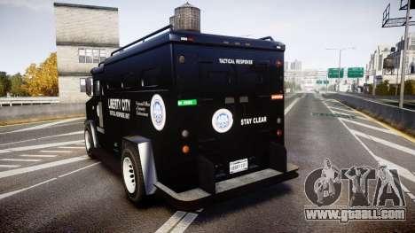GTA V Brute Police Riot [ELS] skin 2 for GTA 4 back left view