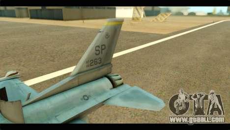 Lockheed Martin F-16C Fighting Falcon Warwolf for GTA San Andreas back left view