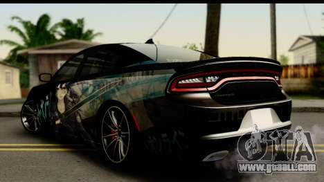 Dodge Charger RT 2015 Sword Art for GTA San Andreas left view