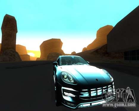 Porsche Macan Turbo for GTA San Andreas interior