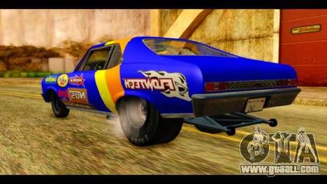 Chevy Nova NOS DRAG for GTA San Andreas left view
