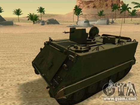 The M113 Armored Personnel Carrier for GTA San Andreas left view