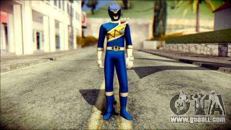 Power Rangers Kyoryu Blue Skin for GTA San Andreas