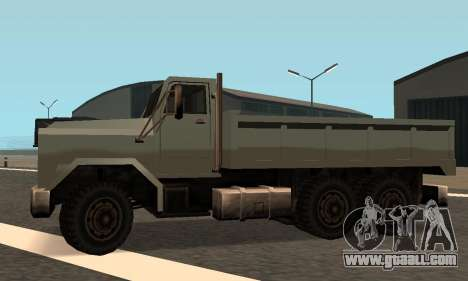 Flatbed Fixed for GTA San Andreas inner view