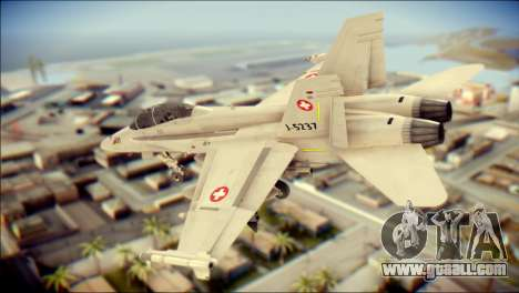 F-18D Swiss Air Force for GTA San Andreas left view