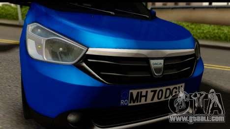 Dacia Lodgy 2014 for GTA San Andreas back left view