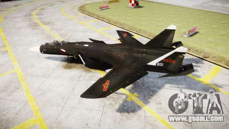 Su-47 Berkut for GTA 4 left view