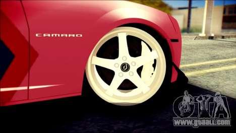 Chevrolet Camaro ZL1 Indonesian Police v2 for GTA San Andreas back left view