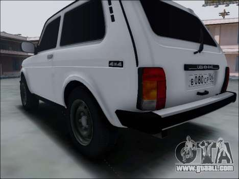 Lada Niva for GTA San Andreas back view