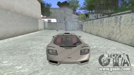 1992 McLaren F1 Clinic Model Custom Tunable v1.0 for GTA San Andreas left view