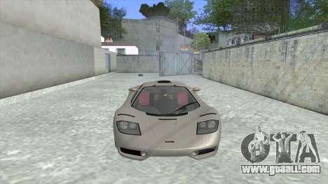 1992 McLaren F1 Clinic Model Custom Tunable v1.0 for GTA San Andreas left view