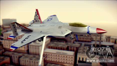 F-22 Raptor Thunderbirds for GTA San Andreas