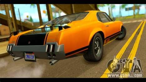 GTA 5 Declasse Sabre GT Turbo IVF for GTA San Andreas left view