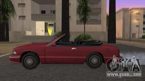 Premier Cabrio for GTA San Andreas left view