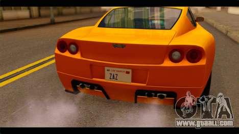 GTA 5 Dewbauchee Super GT for GTA San Andreas back view