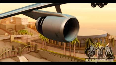 Lookheed L-1011 Air Canada for GTA San Andreas right view