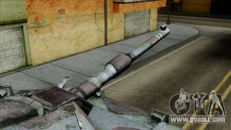 M1A2 Abrams Woodland Blue Camo for GTA San Andreas right view