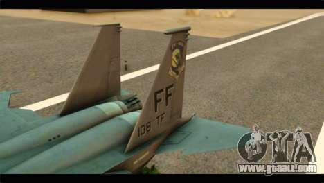 McDonnell Douglas F-15E Strike Eagle for GTA San Andreas back left view