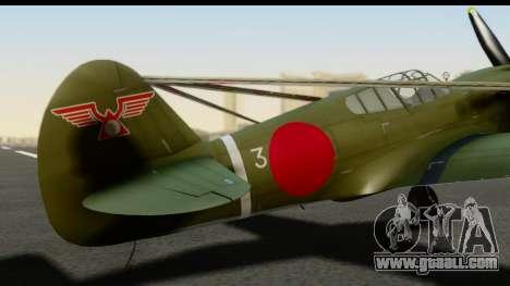P-40E Kittyhawk IJAAF for GTA San Andreas back view