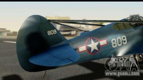 P-40E Kittyhawk US Navy for GTA San Andreas back view