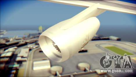 Airbus A340-300 Emirates for GTA San Andreas right view