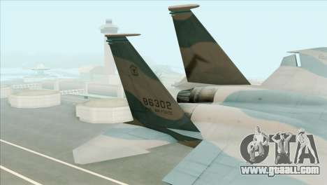 McDonnell Douglas F-15D Philippine Air Force for GTA San Andreas back left view
