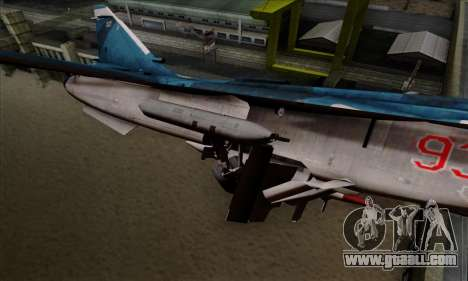 SU-24MP Fencer Blue Sea Camo for GTA San Andreas right view