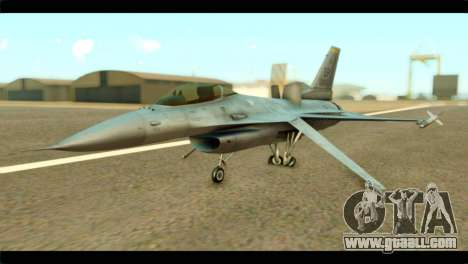Lockheed Martin F-16C Fighting Falcon Warwolf for GTA San Andreas