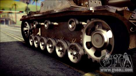 StuG III Ausf. G for GTA San Andreas right view