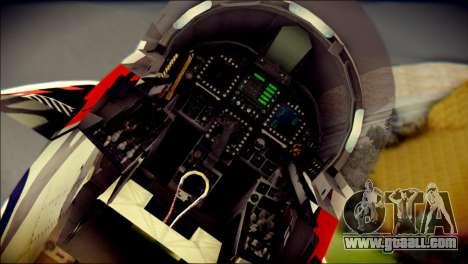FA-18D Hornet RCAF Tigermeet for GTA San Andreas back view