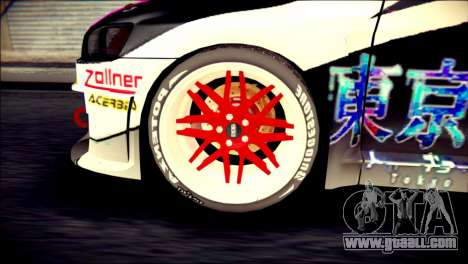 Mitsubishi Lancer Evolution X Juuzo Itasha for GTA San Andreas back left view