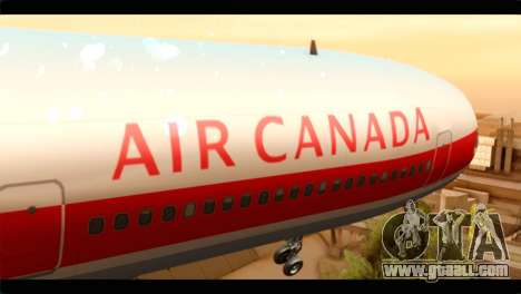 Lookheed L-1011 Air Canada for GTA San Andreas back view