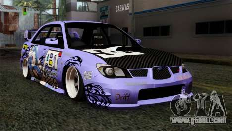 Subaru Impreza WRX STI 5pb Itasha for GTA San Andreas