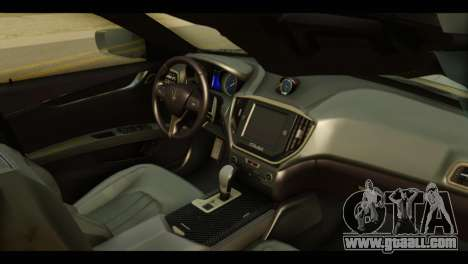 Maserati Ghibli S 2014 v1.0 EU Plate for GTA San Andreas right view